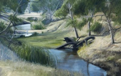 The Creek – Oil painting landscape by Avril Thomas