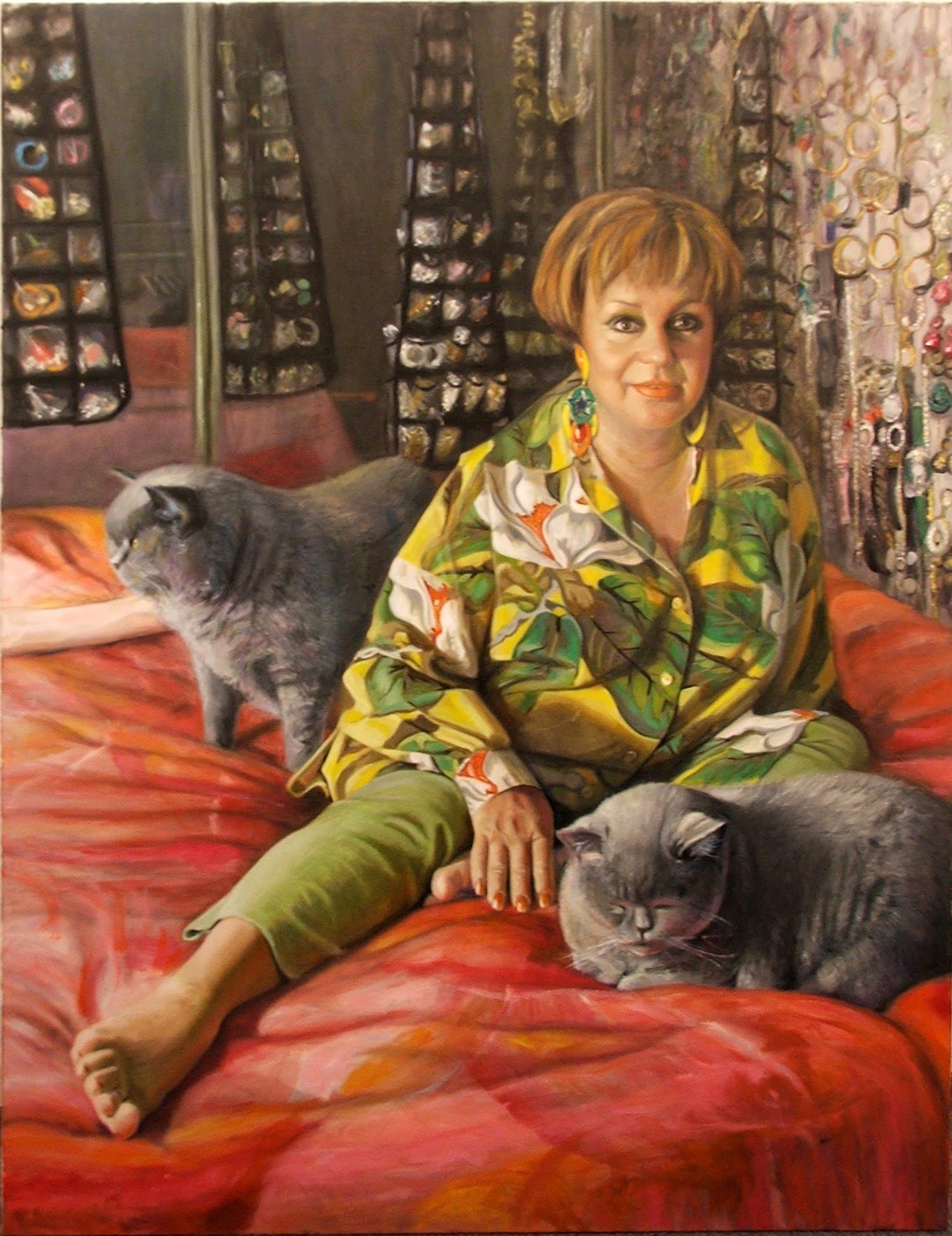 Bling - Anne Wills ,Oil on Canvas by Avril Thomas, Adelaide Artist, South Australian Artist, Australian Artist