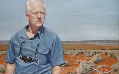 Oil Portrait- Dr Henry Newland AM by Avril Thomas