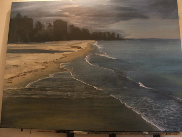 oil painting, work in progress, Australian Artist, Adelaide Artist, Glenelg, South Australia, Art