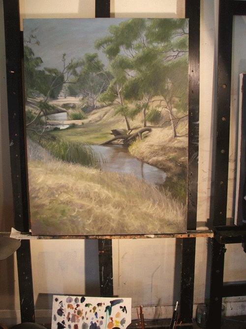 South Australian Artist, Avril Thomas,Artist studio near Adelaide, Adelaide Artist, Landscape painting, oil painting