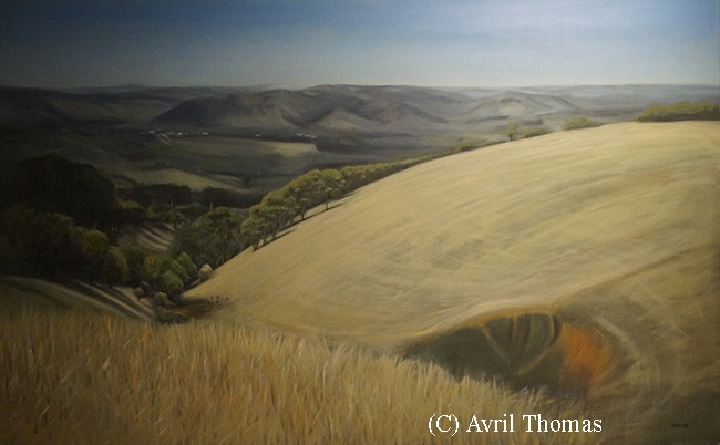 """""""Mount Compass"""" Oil on canvas by Avril Thomas"""